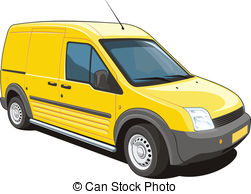 ... Delivery Van - Vector Isolated Deliv-... Delivery van - Vector isolated delivery van on white.-2