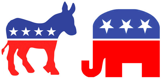 Democrat Donkey And Republican Elephant-Democrat Donkey And Republican Elephant-0