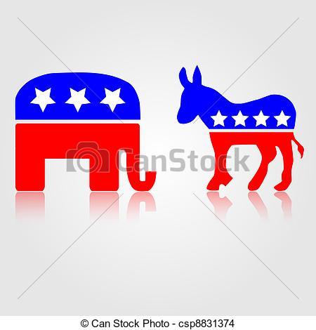 ... Democratic and Republican Political Symbols