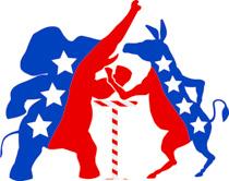 Democratic Republican Parties Arm Wrestling Clipart Size: 153 Kb