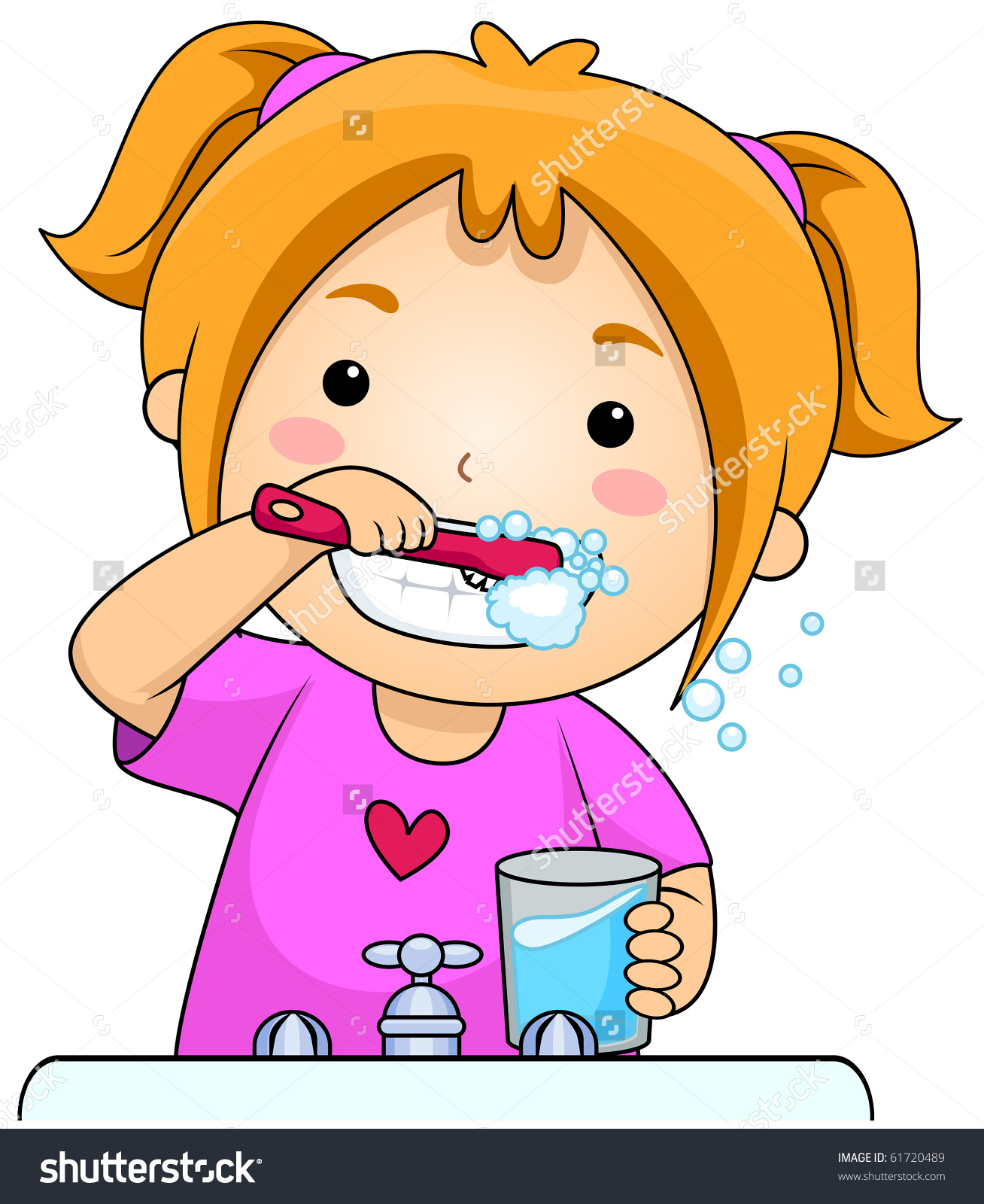 Dental Girl Brushing Teeth 1030 Classroo-Dental Girl Brushing Teeth 1030 Classroom Clipart. Save to a lightbox-4