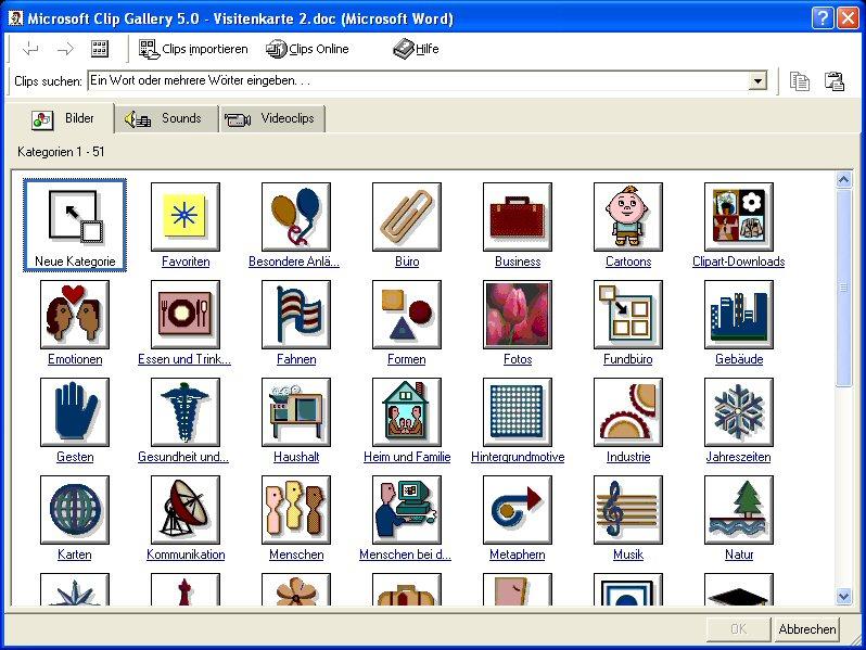 Der Clipart Manager Von Office 97 2000-Der Clipart Manager Von Office 97 2000-8
