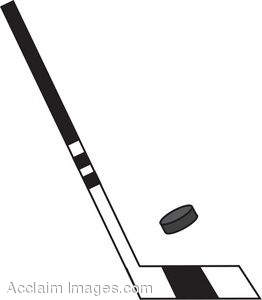 Description Clip Art Of A Hockey Stick With A Puck Clipart