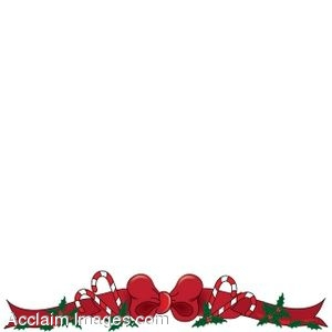 Description Clip Art Of Christmas Page Border With A Red Bow And