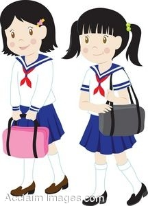 Description Clip Art Of Girls In School -Description Clip Art Of Girls In School Uniforms Clipart-7