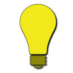 Description Free Clipart Picture Of A Bright Yellow Light Bulb This