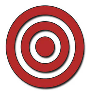 Description This Clipart Picture Is Of A Red Bullseye The
