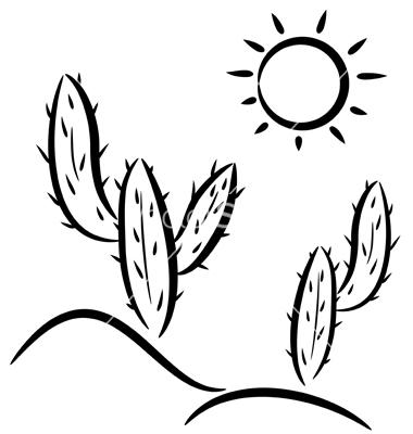 Desert Clipart Cactus In Desert Vector 525421 Jpg