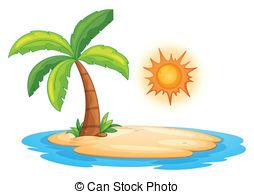 ... Desert island - Illustration of a de-... Desert island - Illustration of a desert island-9
