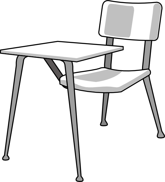 Desk clip art free vector .