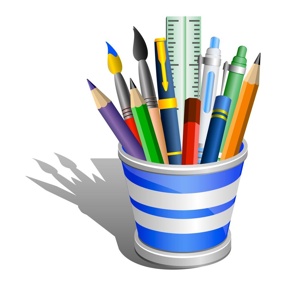 Desk Office Supplies Clip Art-Desk Office Supplies Clip Art-4