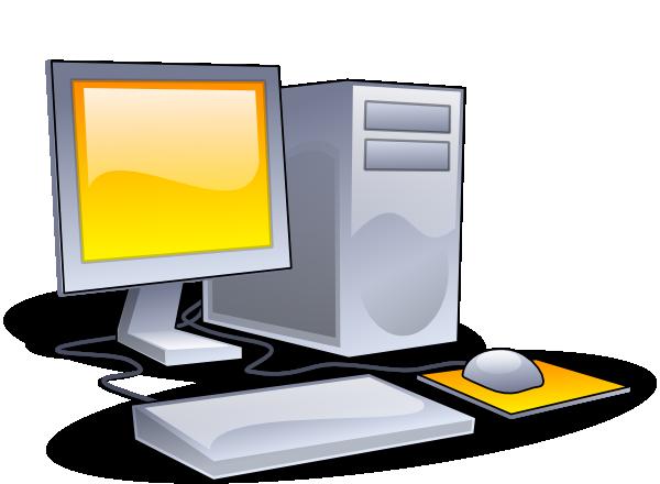 Desktop Computer Clip Art At Clker Com Vector Clip Art Online