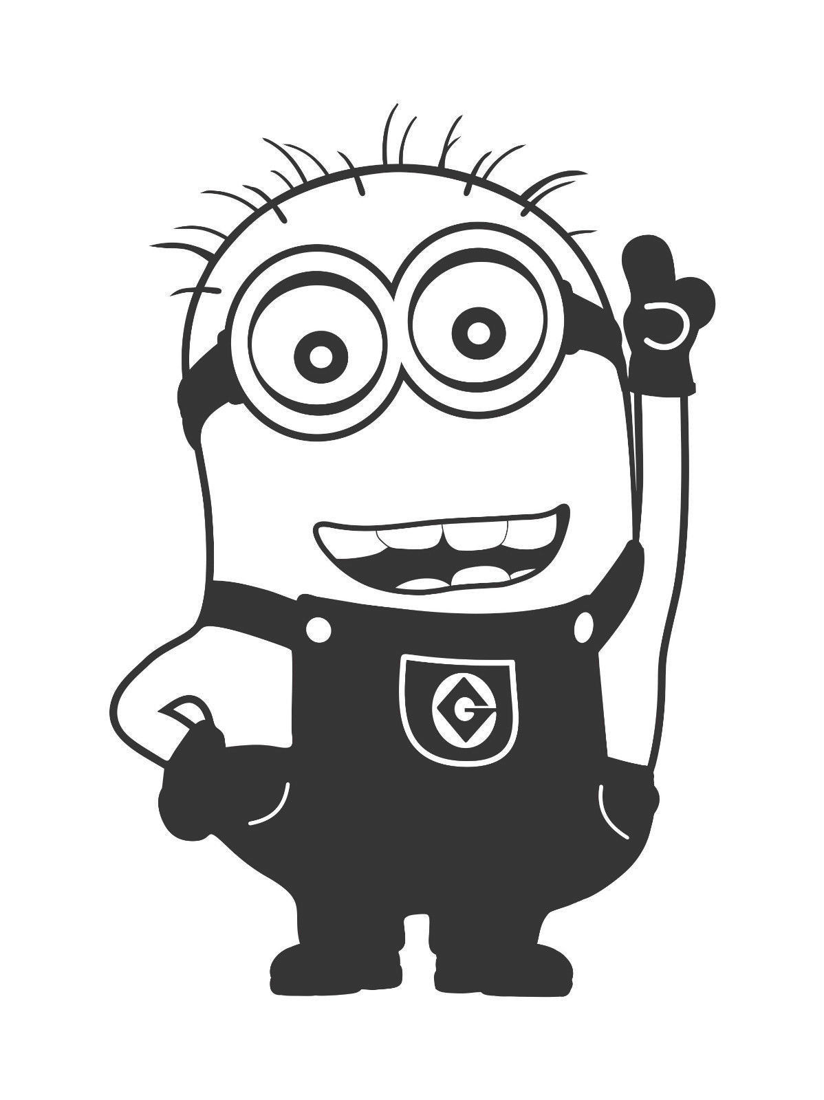 Minion Black And White Pic Despicable Me-Minion Black And White Pic Despicable Me Clipart Black And White u2013 Pencil  And In Color-5