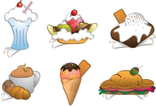 dessert clip arts collection cream cake cocktail design