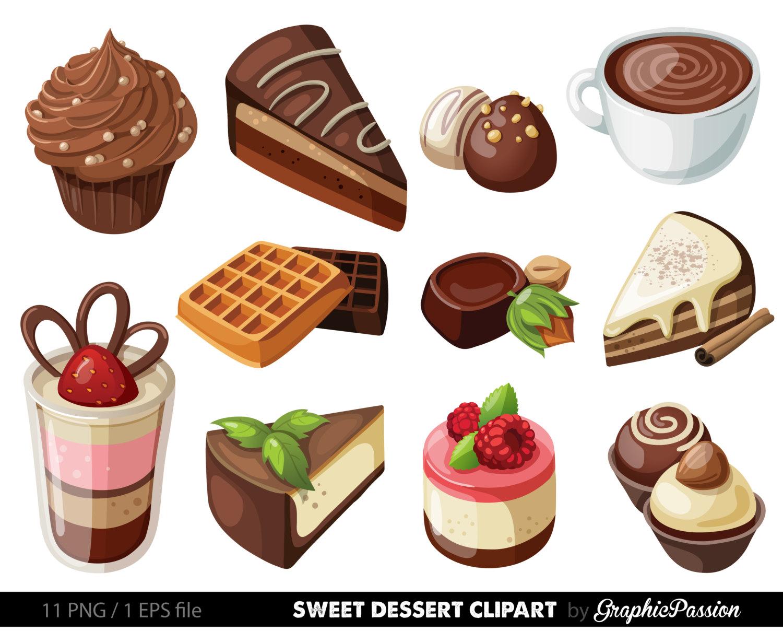 Desserts Clipart Cake Clip Art Sweet Tre-Desserts Clipart Cake Clip Art Sweet Treat By Graphicpassion-13