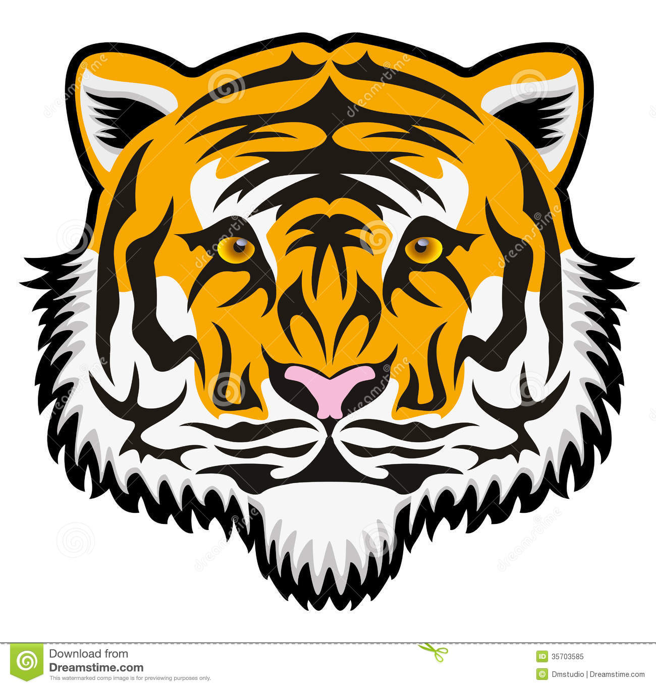 Detailed Tiger Head Clip Art. 23900cdc057ae72dc88b6719bff23d .