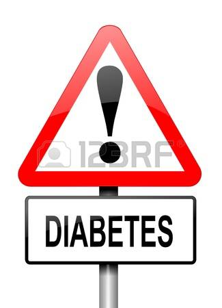 Diabetes: Illustration Depicting A Red A-diabetes: Illustration depicting a red and white triangular warning sign with a diabetes concept.-13