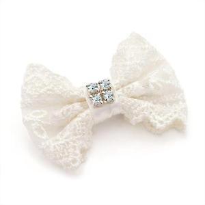 Diamante Bow Hair Clips