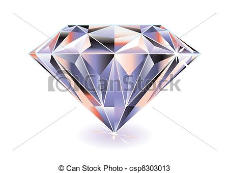 ... Diamond bright - Artistic brightly coloured cut diamond with.