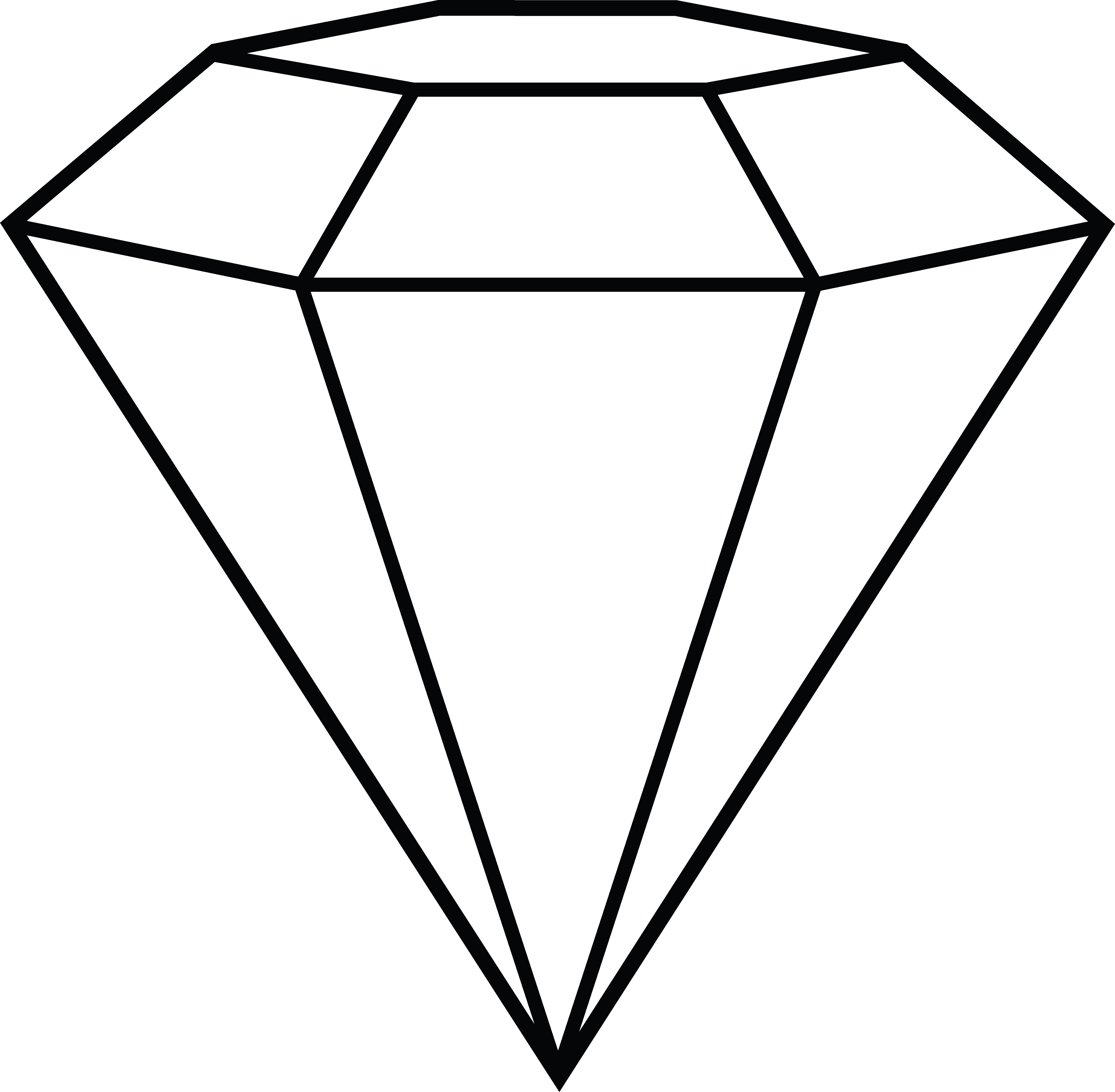 Diamond line art free clip art