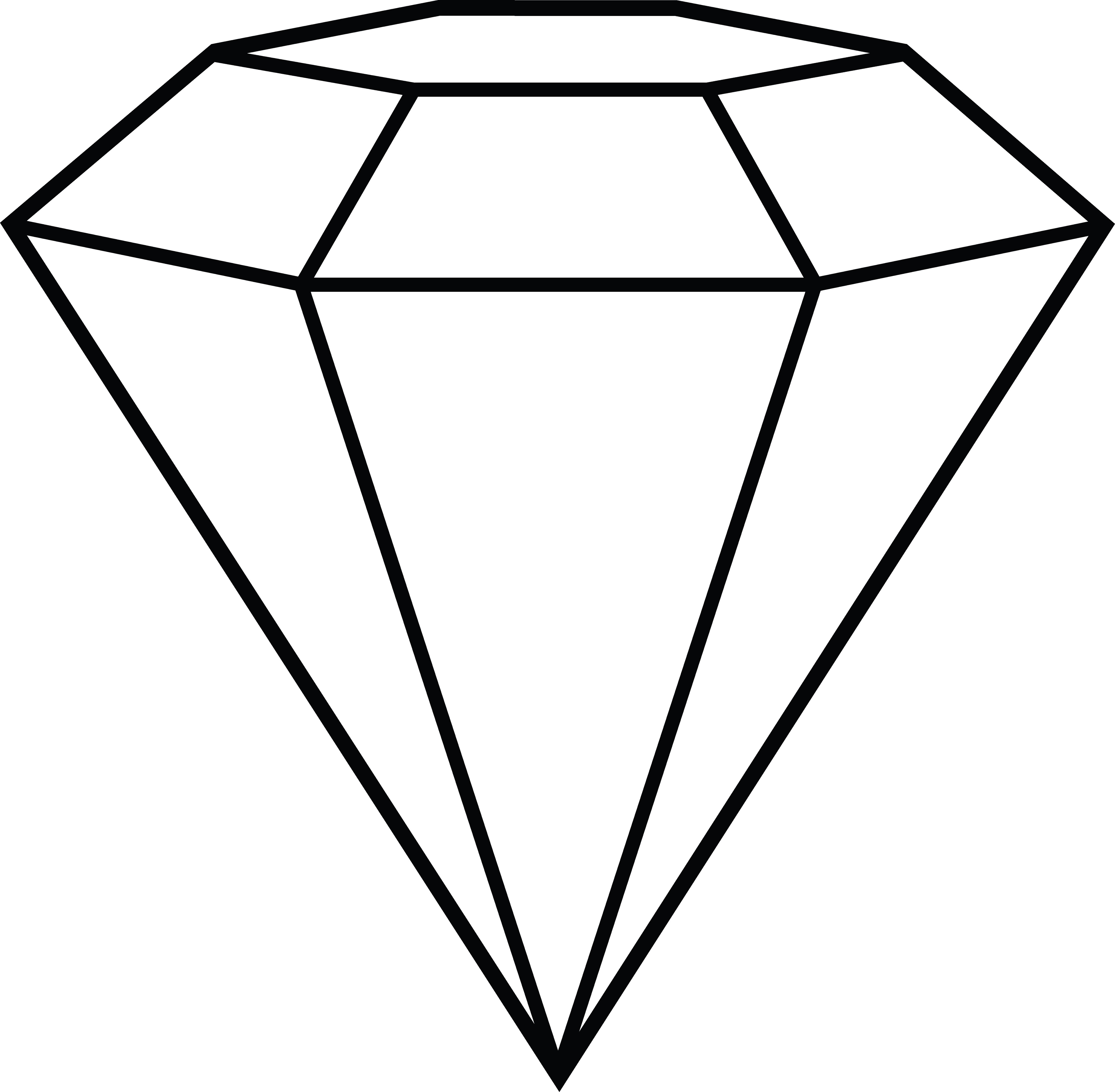 Diamond line art free clip art-Diamond line art free clip art-4