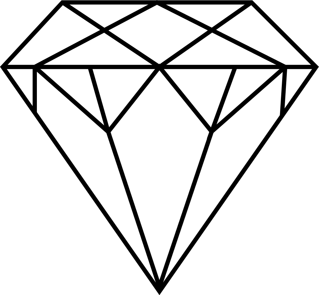 Diamond line art vector cliparts