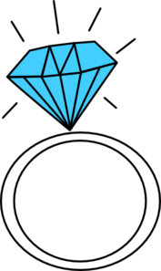 Diamond Ring Teal Clip Art At Clker Com Vector Clip Art Online