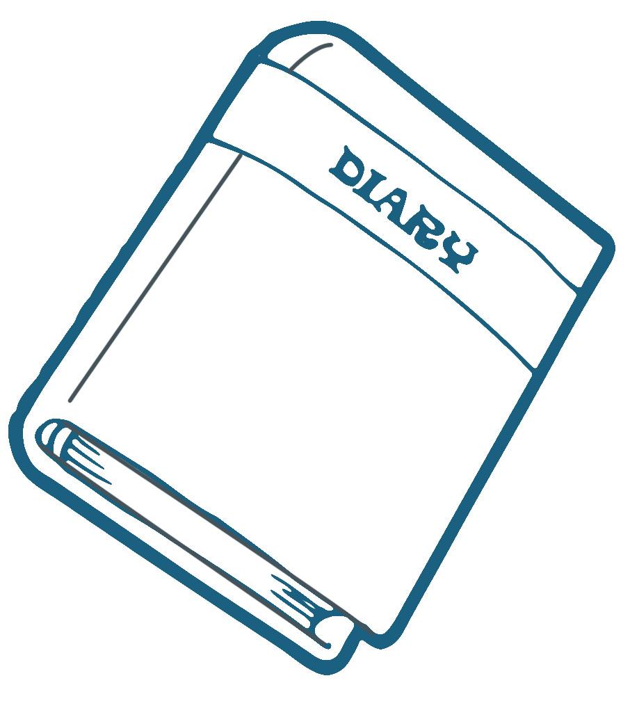 diary clipart-diary clipart-1