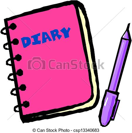 ... diary vector illustration-... diary vector illustration-2