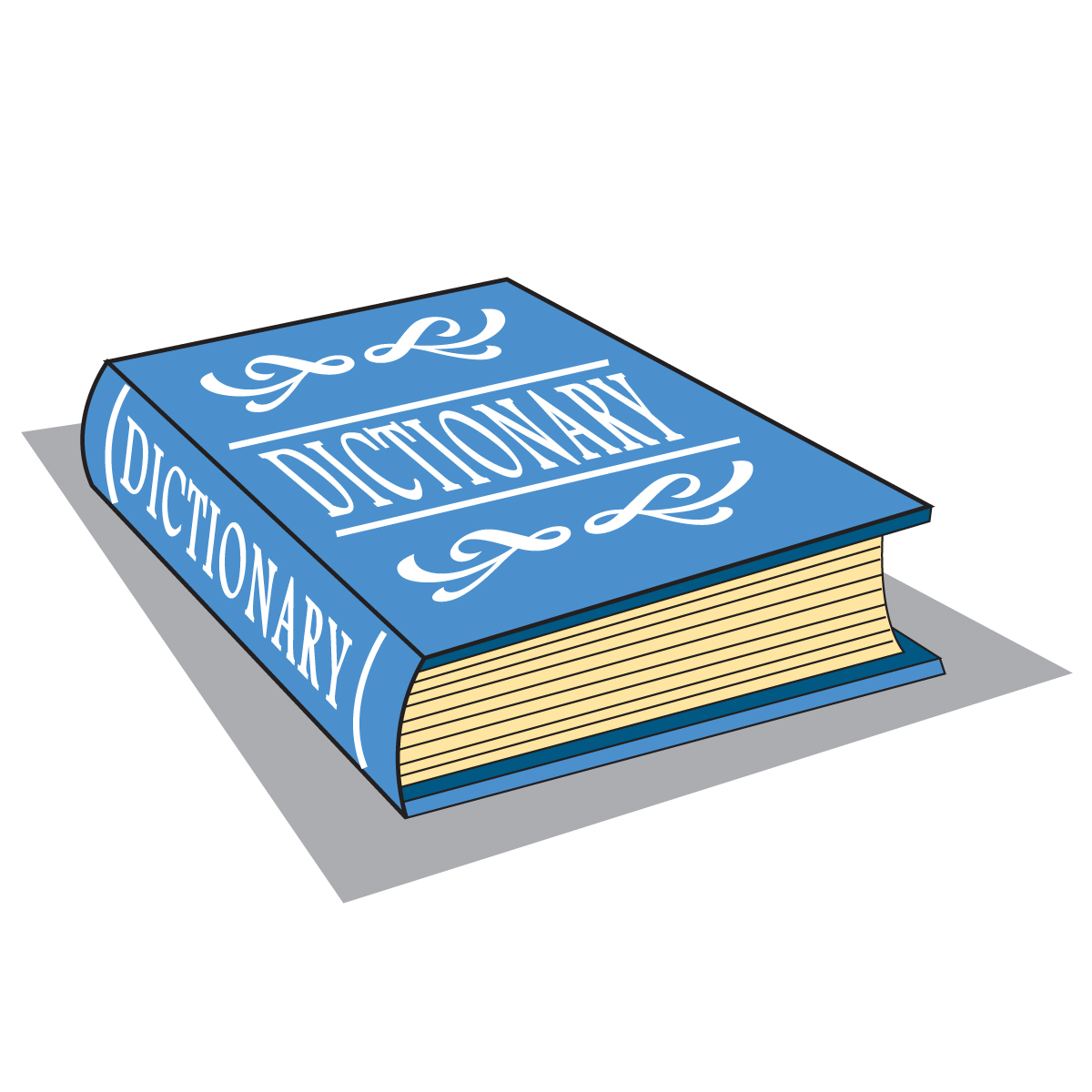 Dictionary Clip Art; Dictiona - Dictionary Clip Art