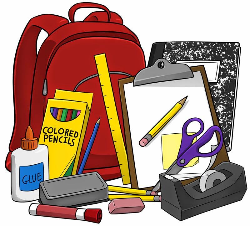 Digital Classroom Clipart - School Supplies Clipart