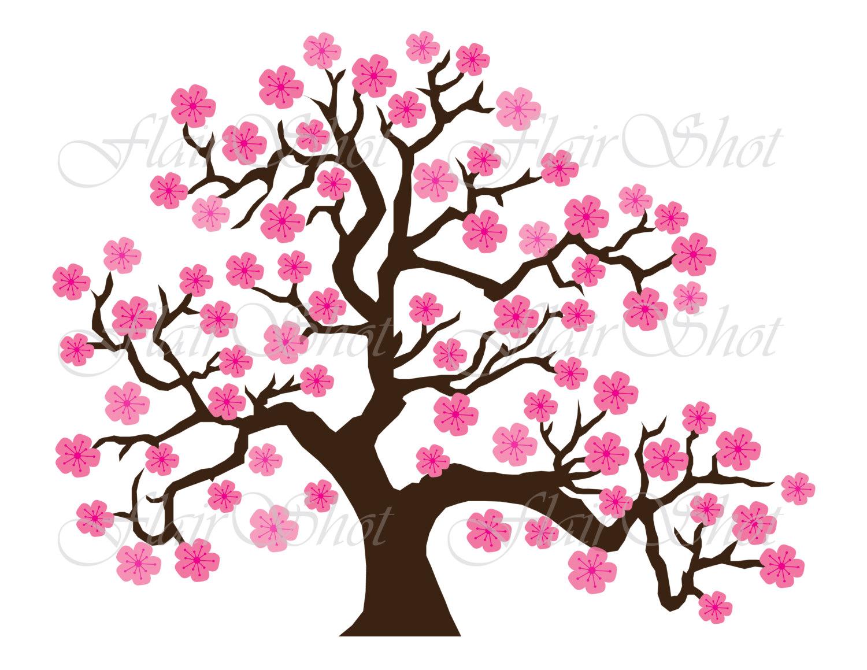 Digital Clip Art, Pink Cherry .