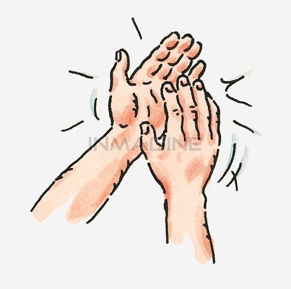 Digital Illustration Of Pair Of Clapping-Digital Illustration Of Pair Of Clapping Hands Stock Photos Pictures-14