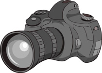 Digital Slr Camera Clipart Size: 96 Kb