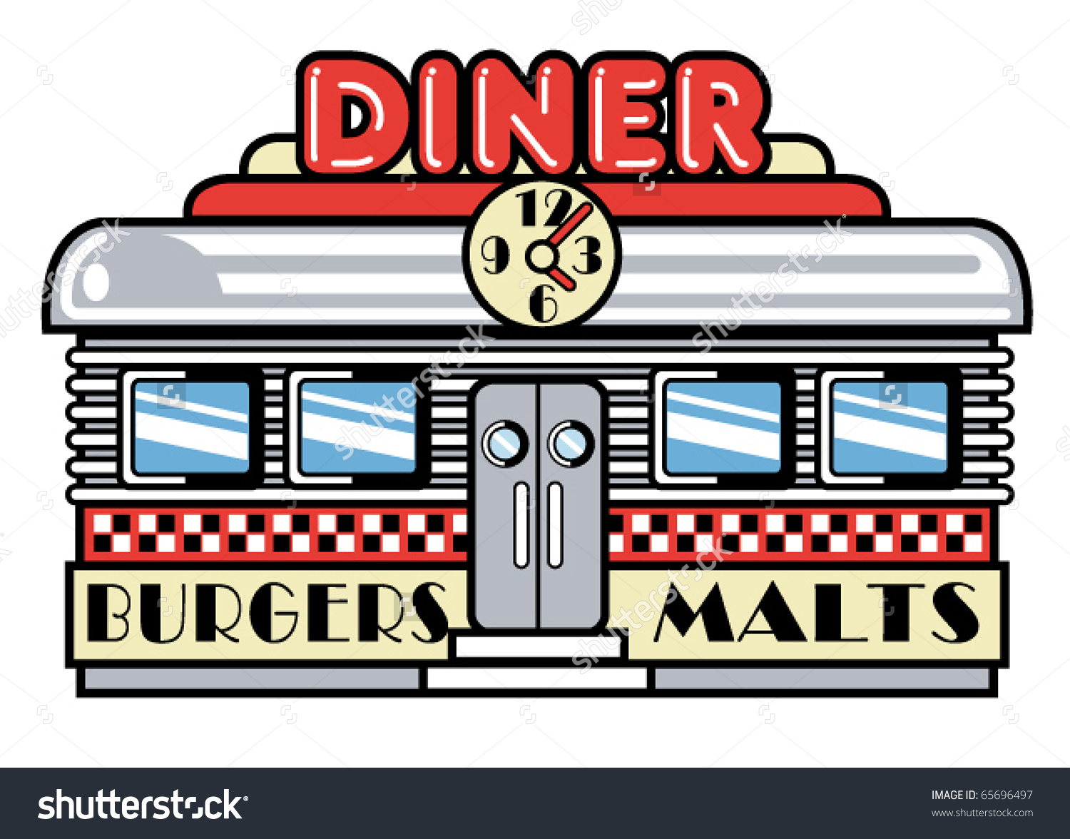 Diner Sign Clip Art