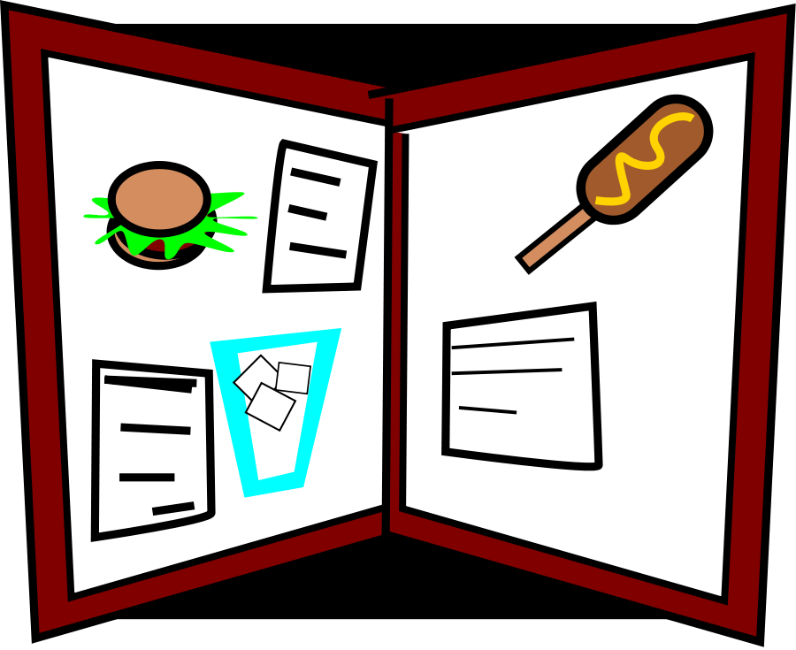 Lunch Menu Clipart u0026middo