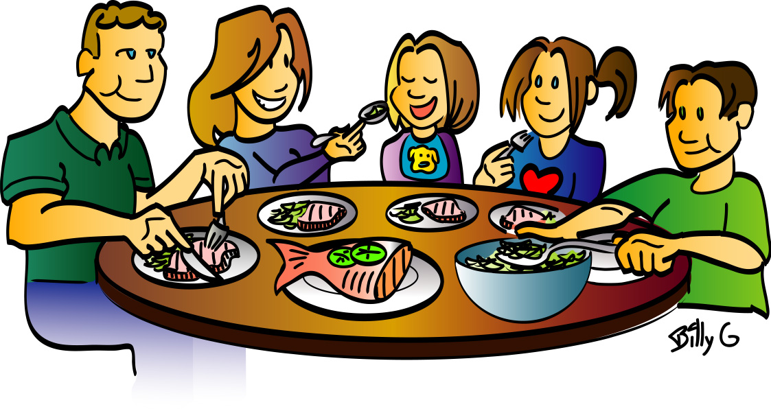 Dinner Table Clipart Dinner Plate With F-Dinner Table Clipart Dinner Plate With Food Clipart Family Dinner-15