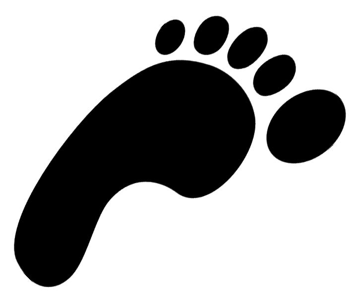 dinosaur footprint clipart-dinosaur footprint clipart-7