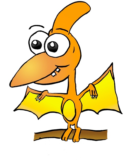 Dinosaur Clipart Cartoon . - Pterodactyl Clipart