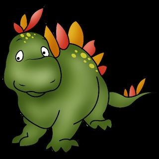 Dinosaur Cute Cartoon Animal .