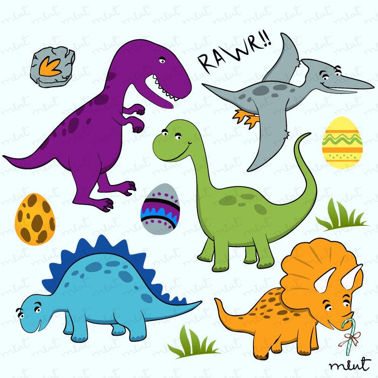 Dinosaur Digital Clip Art Set For Scrapb-Dinosaur Digital Clip Art Set For Scrapbooking By Memomint On Etsy-12