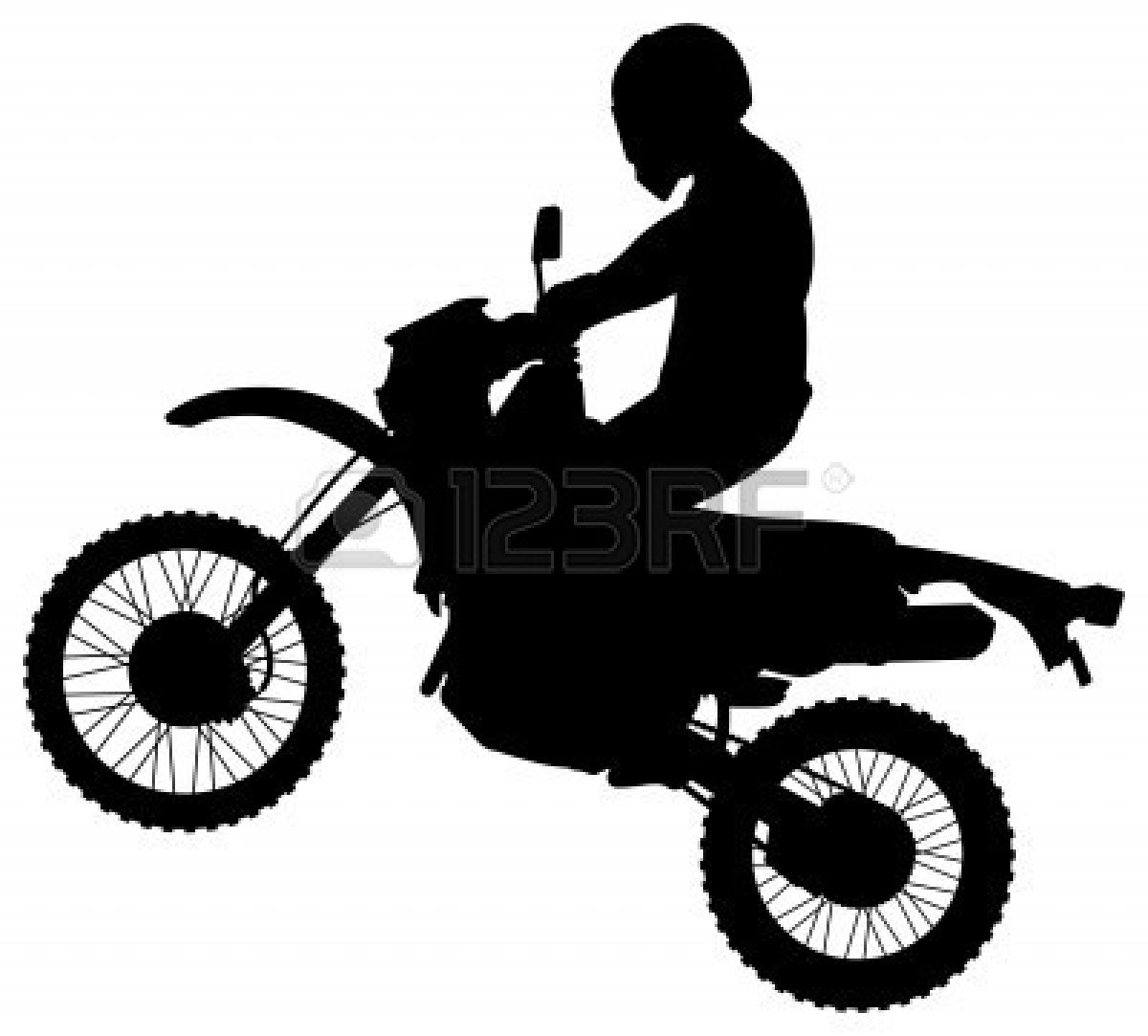 dirt bike clipart black and white-dirt bike clipart black and white-16