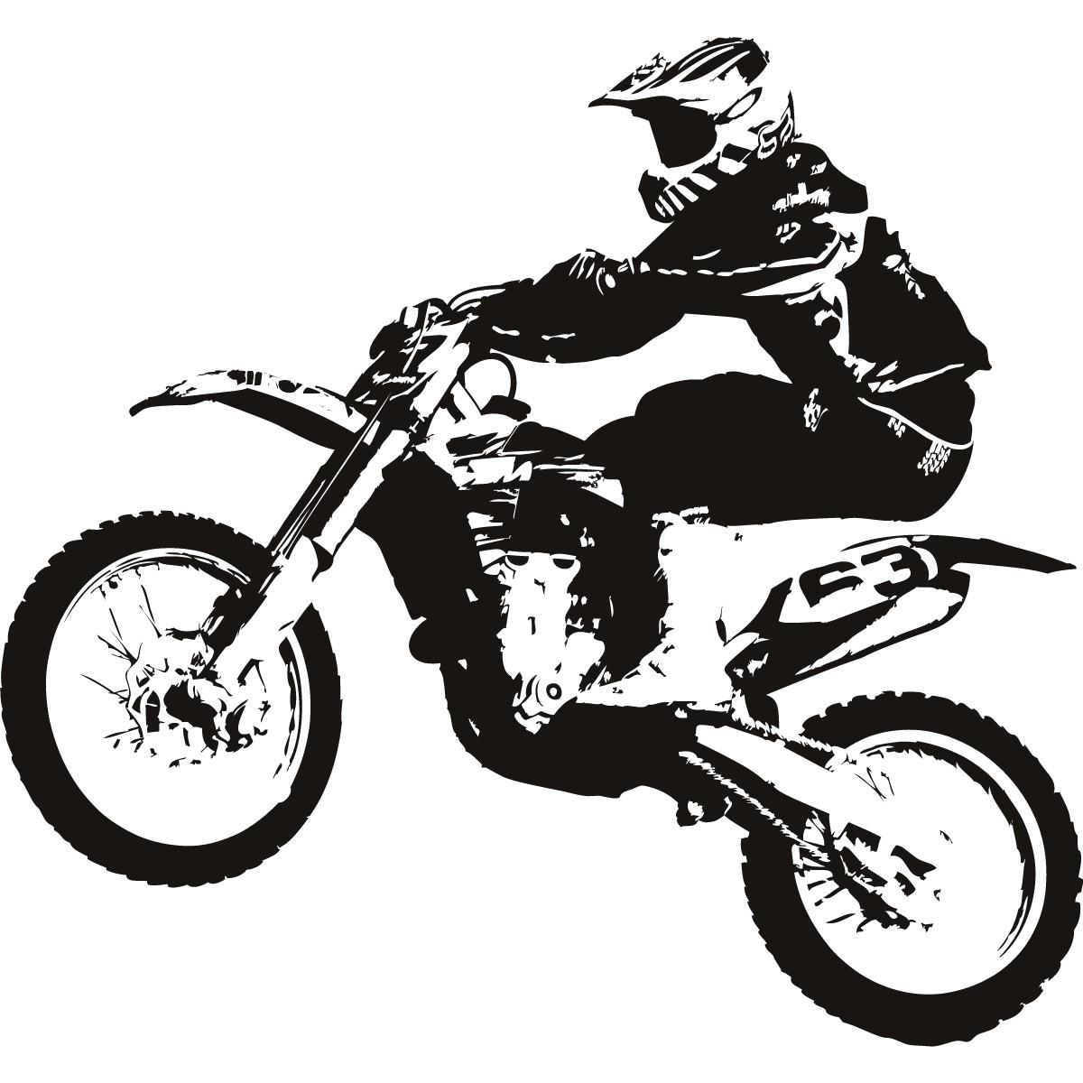 dirt bike clipart black and white-dirt bike clipart black and white-0