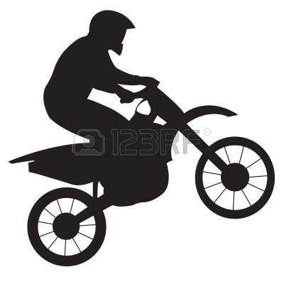 dirt bike clipart black and white-dirt bike clipart black and white-7