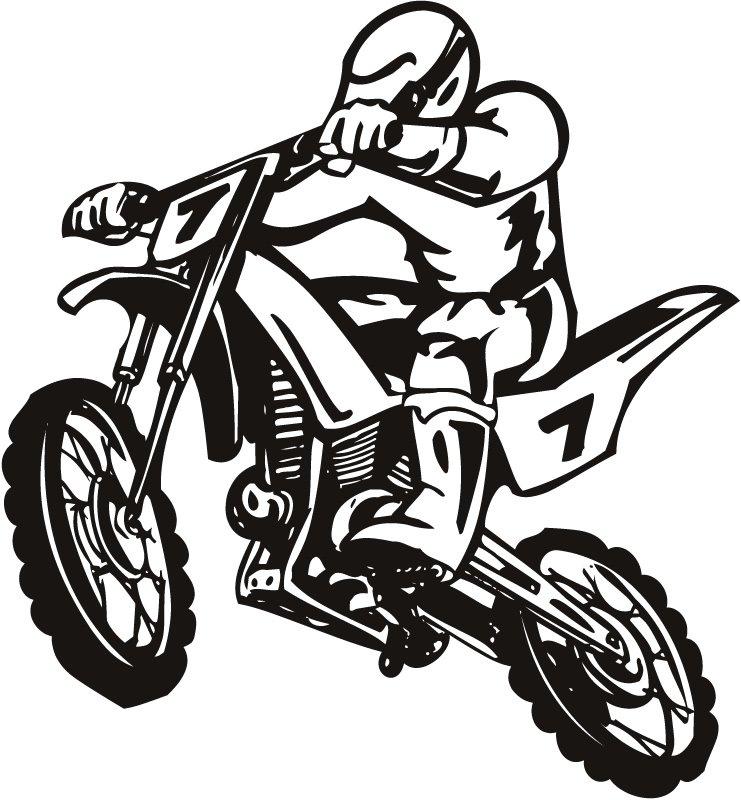 Dirt Bike Scrambler Motor Sport Wall Sti-Dirt Bike Scrambler Motor Sport Wall Sticker Wall Art Decal Transfers-10