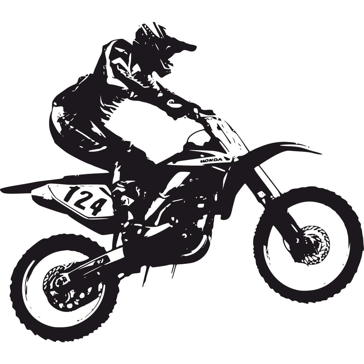 Dirt Bike Scrambler Wall Decal Wall Art Stickers Transfers Ebay