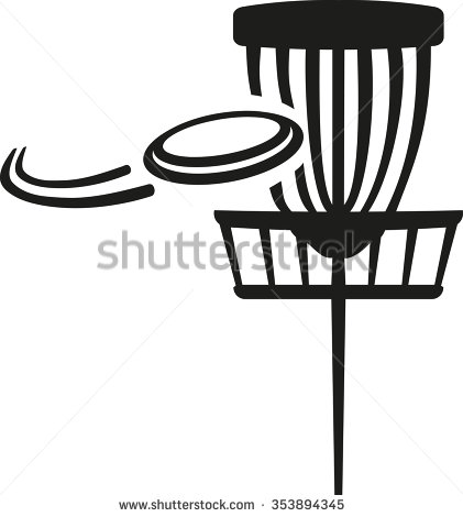 Disc Golf Basket With Flying .-Disc golf basket with flying .-8