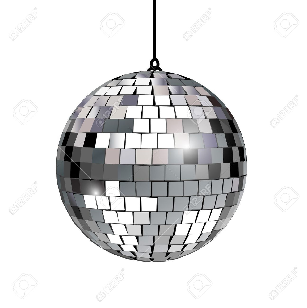 Disco Ball Clip Art. disco ball isolated: disco .