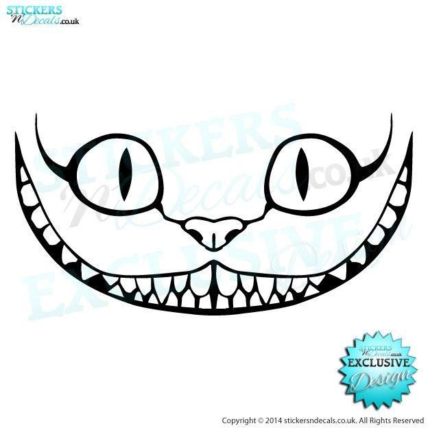 Disney Alice In Wonderland - The Cheshire Cat - Character Wall Art - Vinyl Wall Decal - Window Sticker - Disney Wall Art, stickersndecals
