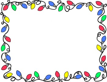 Disney Christmas Clipart Bord - Christmas Lights Border Clip Art